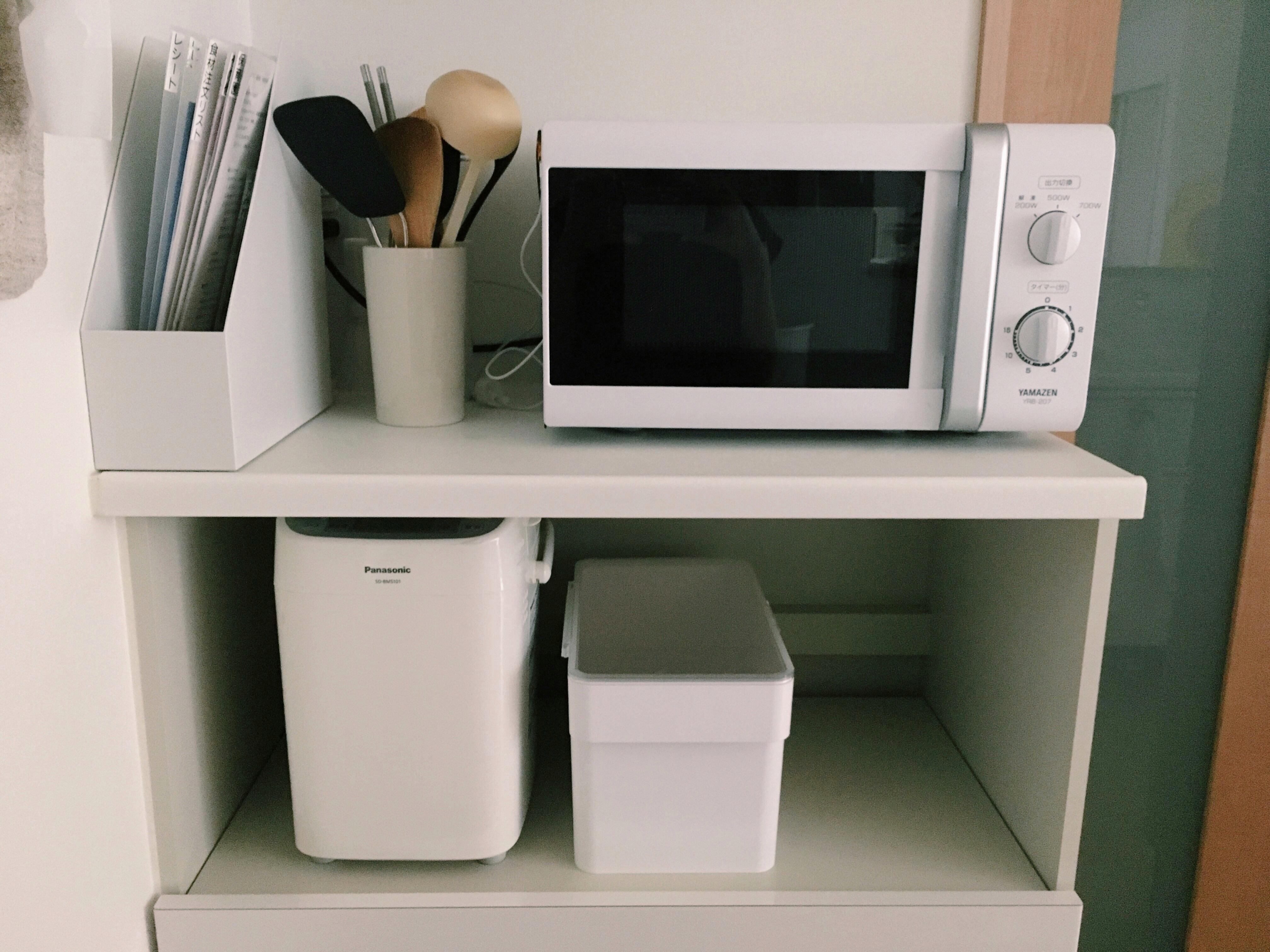 【キッチンの家電ラック収納】スッキリ収納を意識